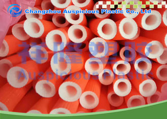 Red EPE Polyethylene Foam Pipe Insulation Tube For Air Conditioner Pipe