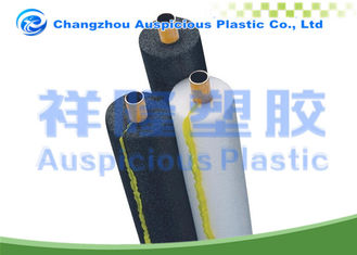 Heat Saving Pre Slit Foam Tube Insulation With Yellow Color Self Adhesive Tape
