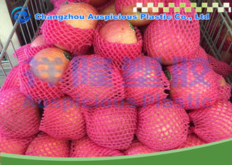 Red Green White Yellow Color Foam Fruit Net For Banana Papaya Pacakage