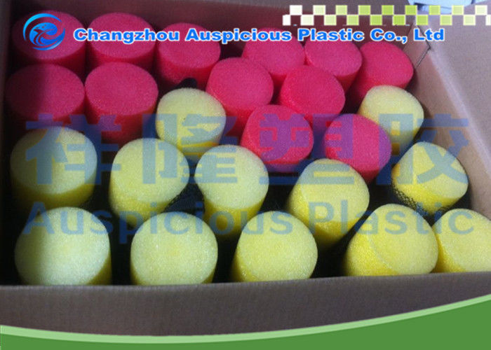 Red / Yellow Custom Foam Pool Noodles Lightweight With Hole Assorted Color
